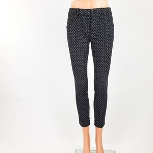 GAP Skinny Ankle Pants Black and White Size 0